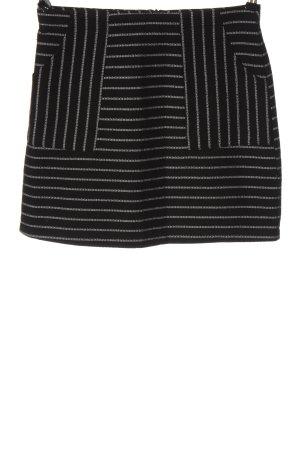 New Look Minirock schwarz-weiß Streifenmuster Casual-Look