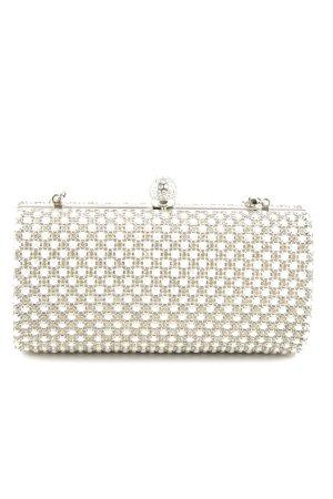 New Look Minibolso blanco-crema estampado acolchado elegante