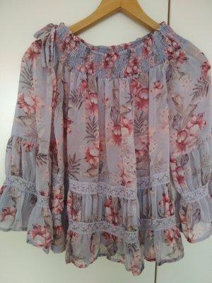 New Look Koszula typu carmen różowy-jasny fiolet