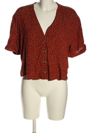 New Look Blusa taglie forti rosso-bianco stampa integrale stile casual