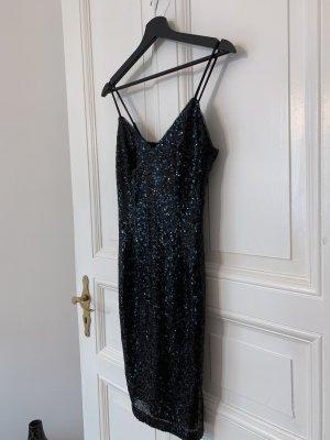 New Look Pailletten Kleid schwarz Größe S
