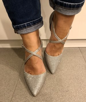 New Look Strapped pumps silver-colored