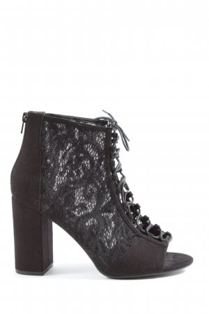New Look Peep Toe Booties black elegant