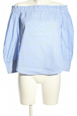 New Look Petite Crash-Bluse blau-weiß Allover-Druck Casual-Look
