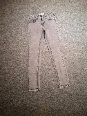 New Look Petite Hoge taille jeans grijs
