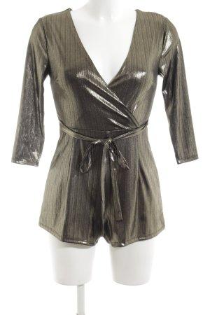 New Look Petite Jumpsuit bronzefarben Streifenmuster extravaganter Stil