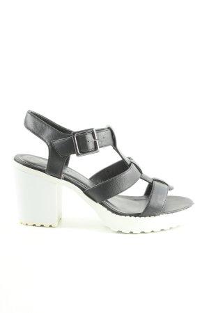 New Look Plateau-Sandalen schwarz-weiß Elegant
