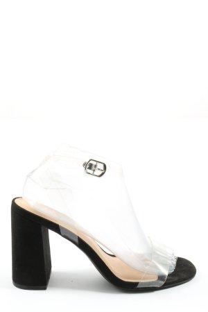 New Look Riemchen-Sandaletten weiß-schwarz Casual-Look