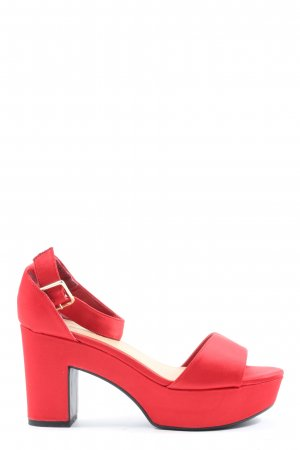 New Look Platform High-Heeled Sandal red elegant