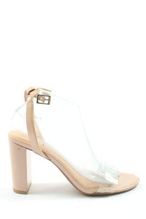 New Look Platform High-Heeled Sandal cream casual look