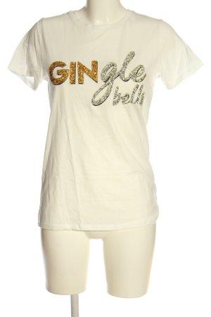New Look Print-Shirt wollweiß Schriftzug gedruckt Casual-Look