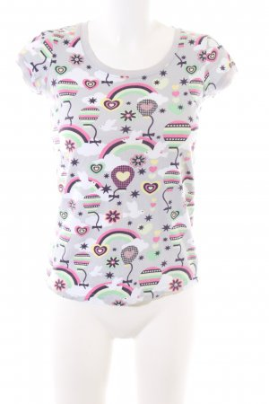 New Look Print-Shirt hellgrau Allover-Druck Casual-Look
