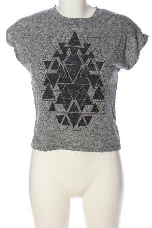 New Look Print-Shirt hellgrau-schwarz meliert Casual-Look