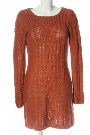 New Look Pulloverkleid rot Zopfmuster Casual-Look