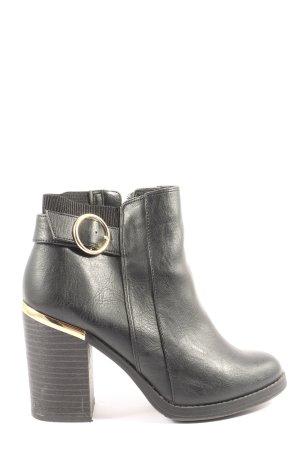 New Look Reißverschluss-Stiefeletten schwarz Casual-Look