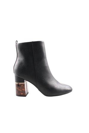 New Look Reißverschluss-Stiefeletten schwarz-braun Street-Fashion-Look
