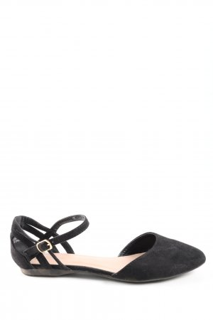 New Look Riemchen Ballerinas schwarz Casual-Look
