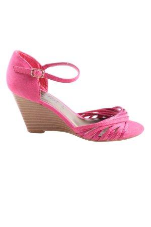 New Look Riemchen-Sandaletten pink-braun Casual-Look