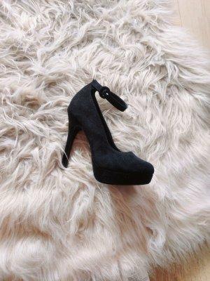 new look riemen high heels pumps schwarz neu