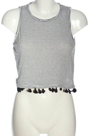 New Look Camisa de rayas blanco-negro estampado a rayas look casual