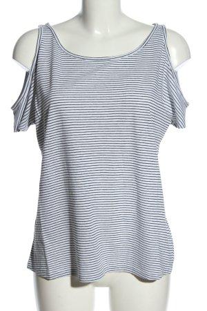 New Look Ringelshirt weiß-blau Streifenmuster Casual-Look