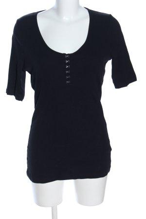 New Look Prążkowana koszulka czarny W stylu casual