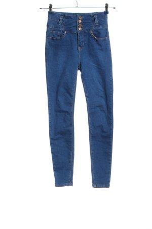 New Look Pantalon cigarette bleu style décontracté
