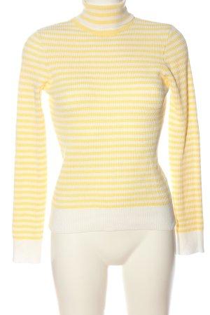 New Look Rollkragenpullover blassgelb-weiß Streifenmuster Casual-Look