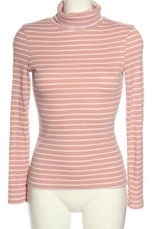 New Look Rollkragenpullover pink-weiß Streifenmuster Casual-Look