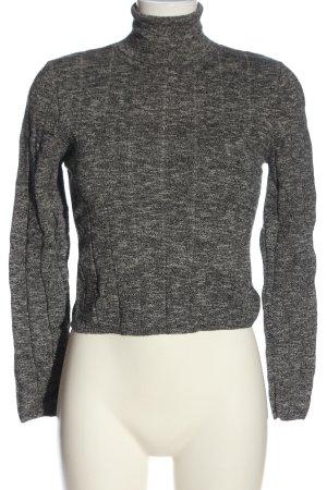 New Look Rollkragenpullover schwarz-weiß abstraktes Muster Casual-Look