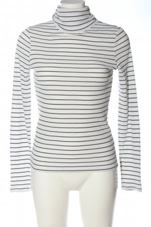 New Look Turtleneck Shirt black-white striped pattern casual look