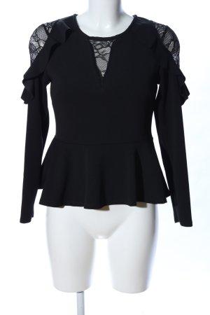 New Look Ruffled Blouse black elegant