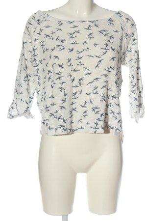 New Look Camisa tejida blanco puro-azul look casual