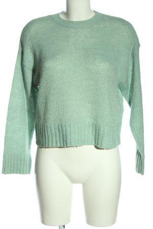 New Look Rundhalspullover grün Casual-Look