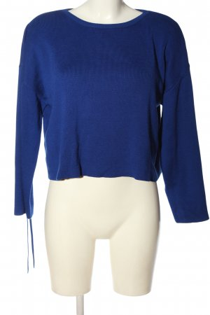 New Look Rundhalspullover blau Casual-Look