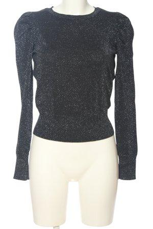 New Look Rundhalspullover schwarz meliert Elegant