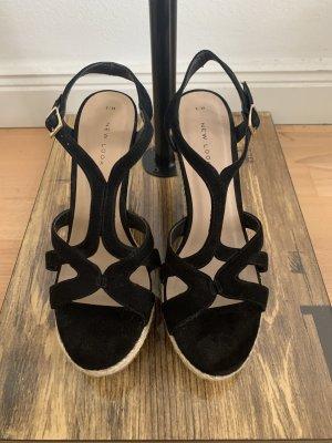New Look Sandalias con plataforma negro-marrón grisáceo