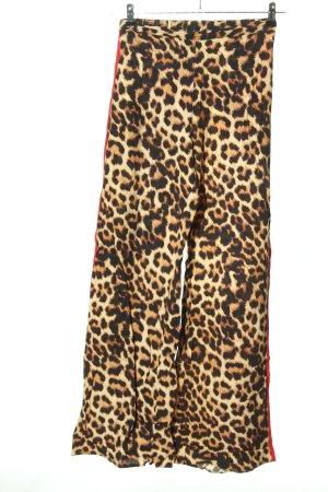 New Look Pantalon pattes d'éléphant blanc cassé-brun imprimé allover