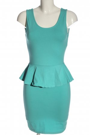 New Look Tube Dress turquoise casual look