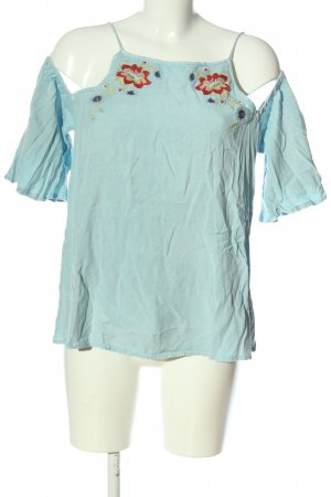 New Look Schlupf-Bluse blau Blumenmuster Casual-Look