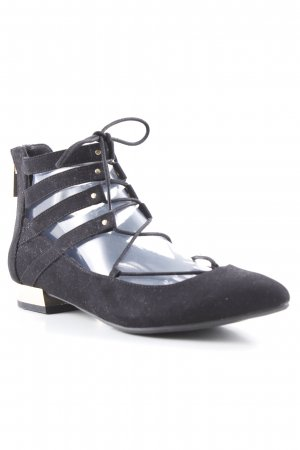 New Look Lace-up Pumps black romantic style