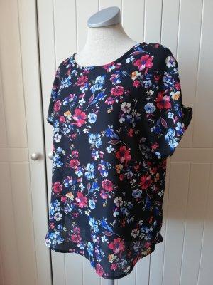 New Look Shirt Top Shirttop Gr. S 36 neu schwarz geblümt Blumen