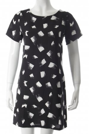 New Look Shirtkleid schwarz-weiß grafisches Muster