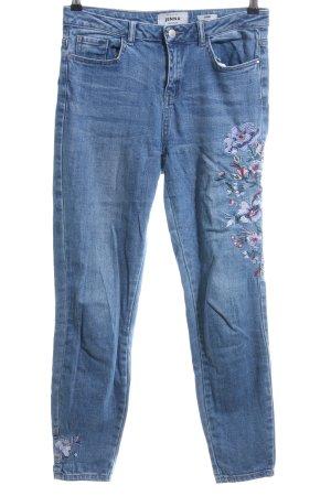New Look Skinny Jeans blau Blumenmuster Casual-Look