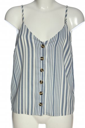 New Look Top z cienkimi ramiączkami niebieski-biały Wzór w paski