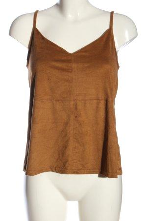 New Look Top con bretelline marrone stile casual