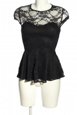 New Look Spitzenbluse schwarz Elegant