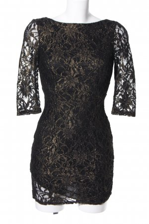 New Look Lace Dress black-gold-colored elegant