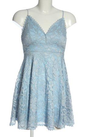 New Look Vestido de encaje azul elegante