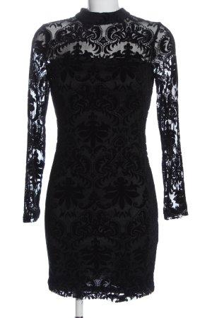 New Look Vestido de encaje negro elegante